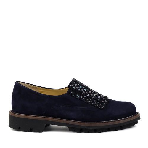 Brunate 11547 Navy Suede side view - Hanig's Footwear