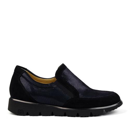 Brunate 20458 Black Suede side view - Hanig's Footwear