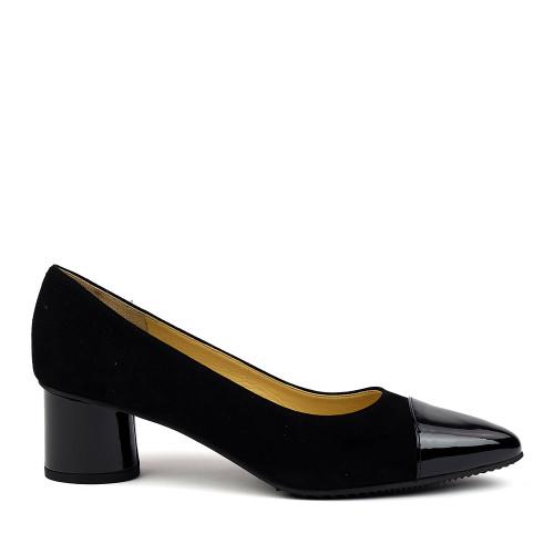 Brunate 51015 Black Suede side view - Hanig's Footwear