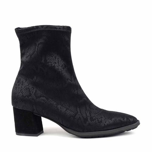 Brunate 68200 Black Bess Stretch side view - Hanig's Footwear