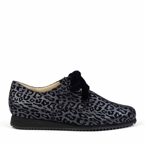 Hassia  301664-6200 grey leopard side view - Hanig's Footwear