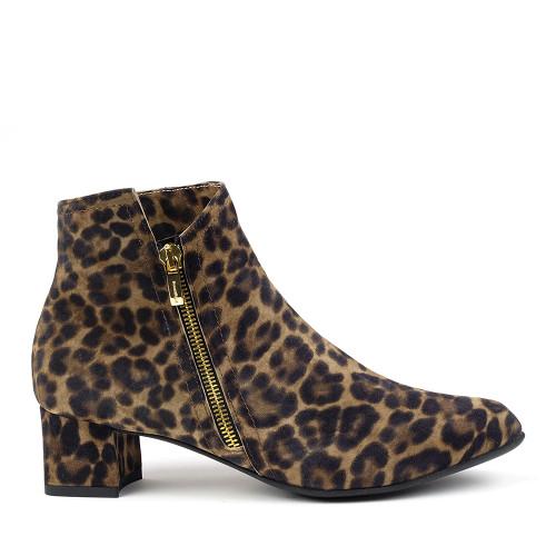 Beautifeel Alexa Leopard Print side view - Hanig's Footwear