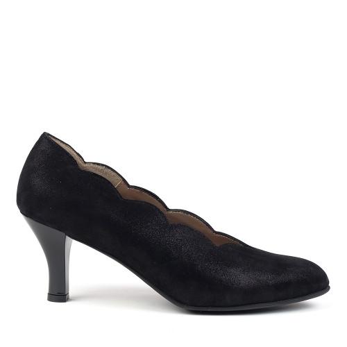Beautifeel Cerise Black side view - Hanig's Footwear