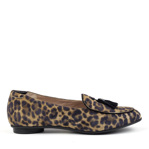 Beautifeel Chloe Leopard Print side view - Hanig's Footwear