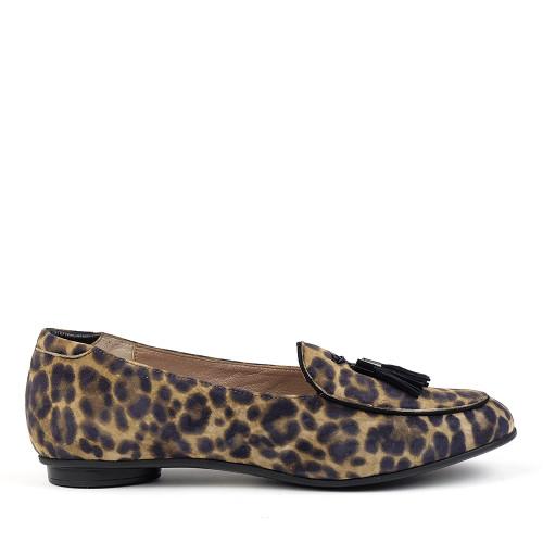 Beautifeel Chloe Leopard Print side view - Hanig's Footwear