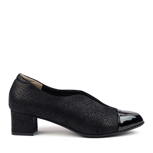 Beautifeel Meryl Black Leo side view - Hanig's Footwear