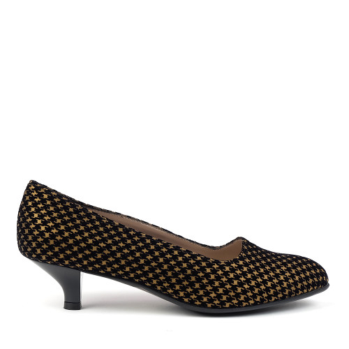 Beautifeel Mystique Bronze Print side view - Hanig's Footwear