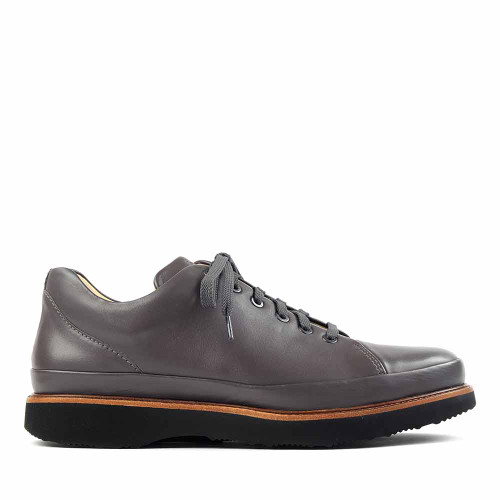 Samuel Hubbard Dress Fast Gray side view - Hanig's Footwear