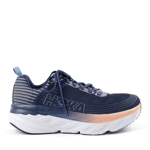 Hoka One One Bondi 6 Mood Indigo Womens side view - Hanig's Footwear