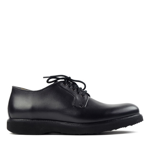 Samuel Hubbard Royal Scot black side view - Hanig's Footwear