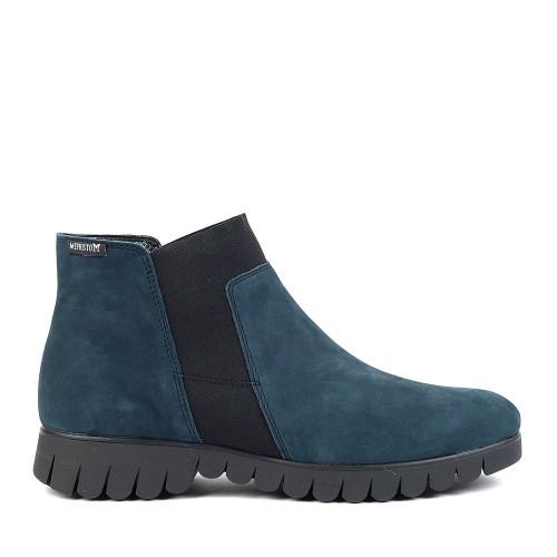 Mephisto Lyana blue side view - Hanig's Footwear