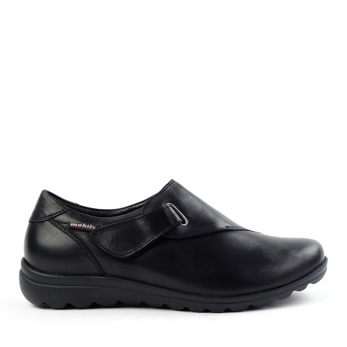 Mephisto Clarisse black nappa side view - Hanig's Footwear