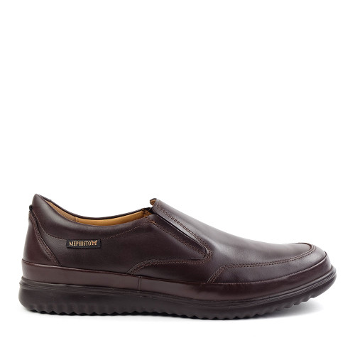 Mephisto Twain Brown side view - Hanig's Footwear
