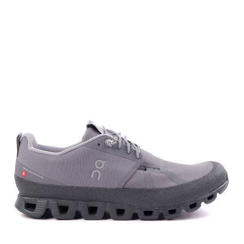 ON running Cloud Grey Shadow Mens side view - Hanig's Footwear