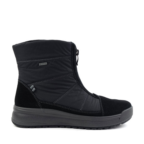 Ara Addy boot in Black Fabric side view - Hanig's Footwear