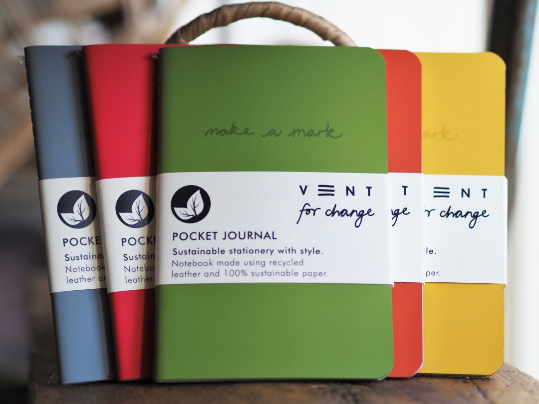 A6 Recycled Leather Pocket Notebook
