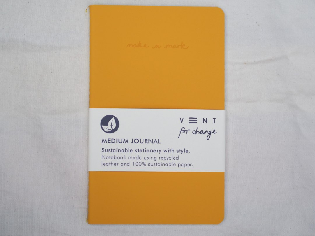 Medium A5 Recycled leather notebook journal