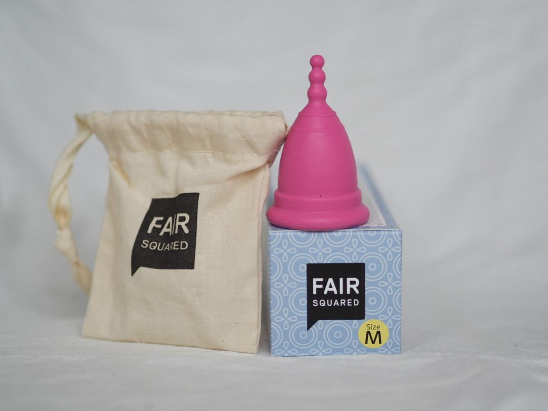 Fair Squared Rubber Period Cup - Pink