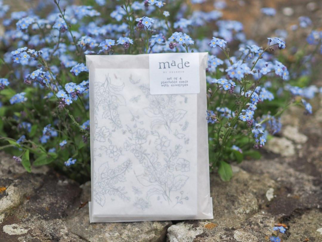 Plantable seed greeting card set of 4