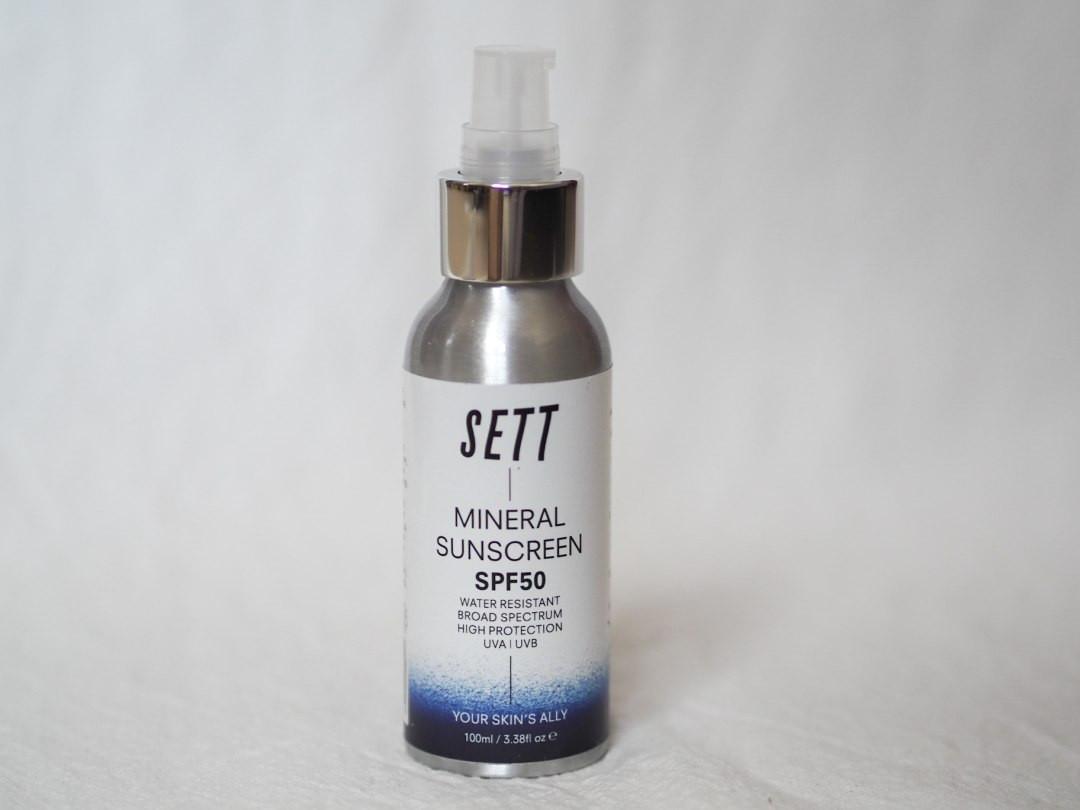 SETT mineral SPF50 suncream non-whitening 100ml