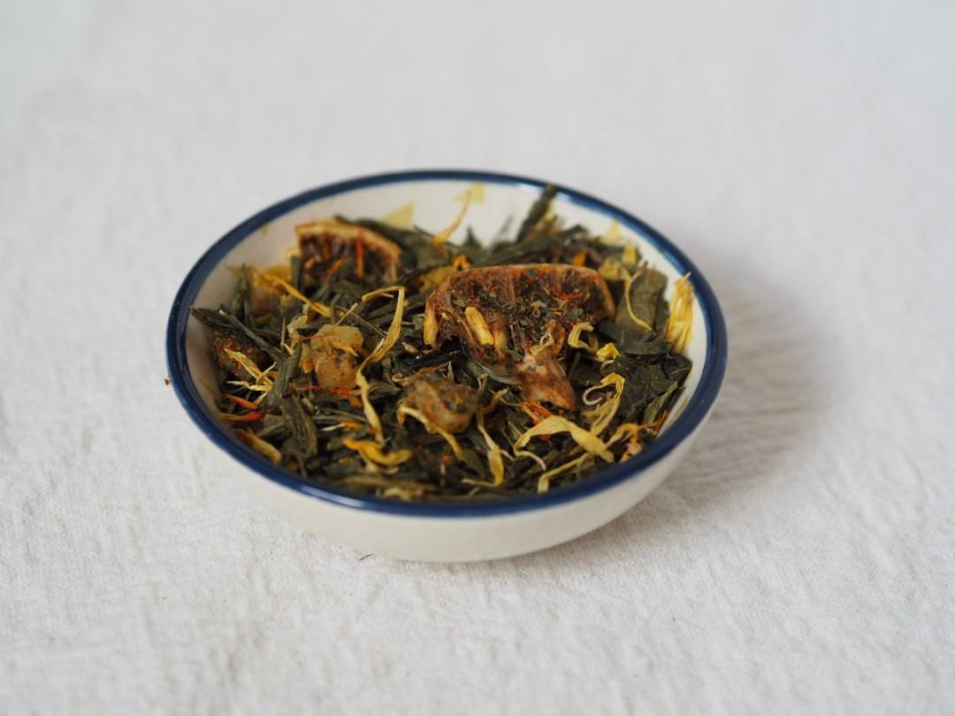 Mango sorbet loose flavoured green tea