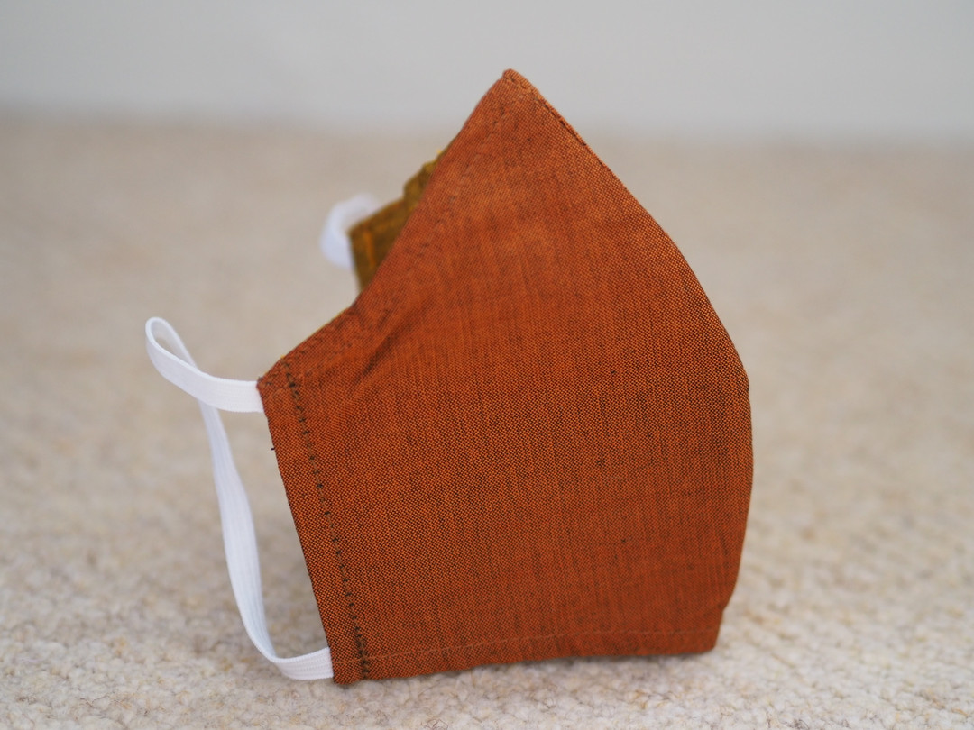 Medium Fair trade face mask with nose wire