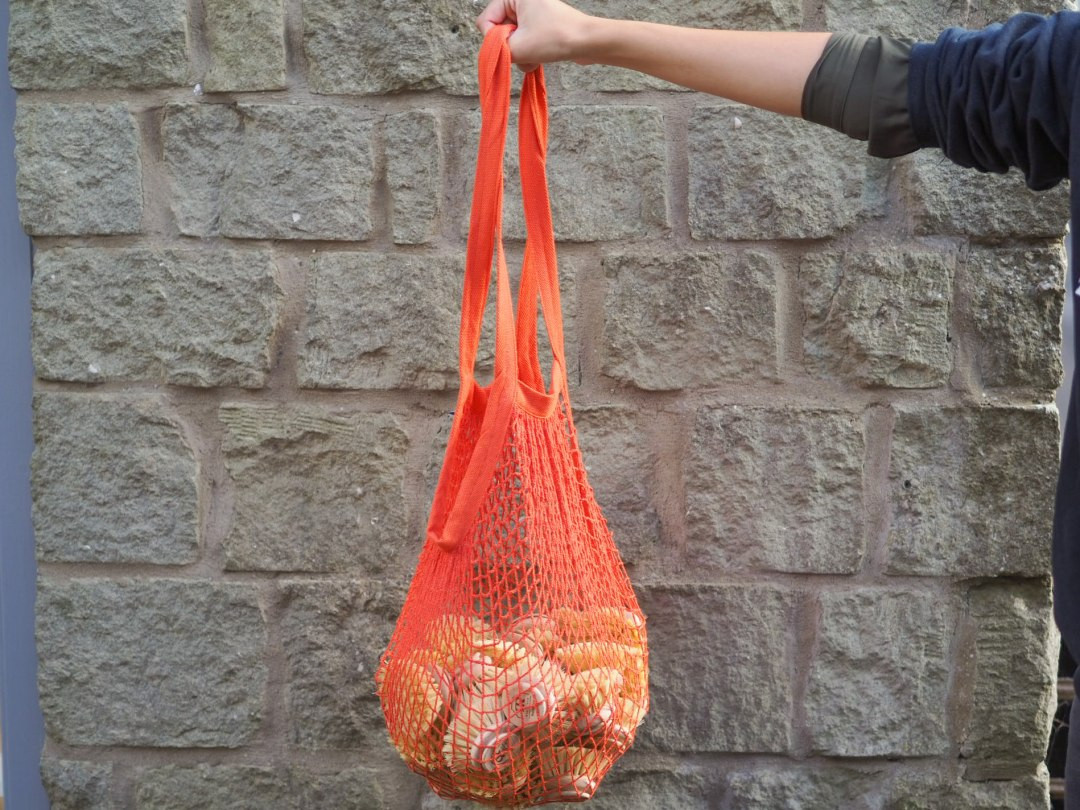 Recycled Cotton mesh shopper tote