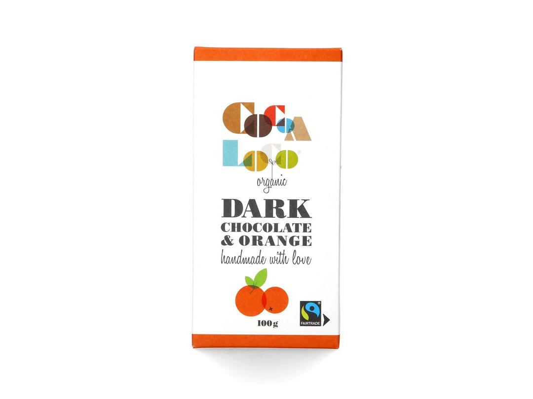 Cocoa Loco Dark Chocolate Orange Bar