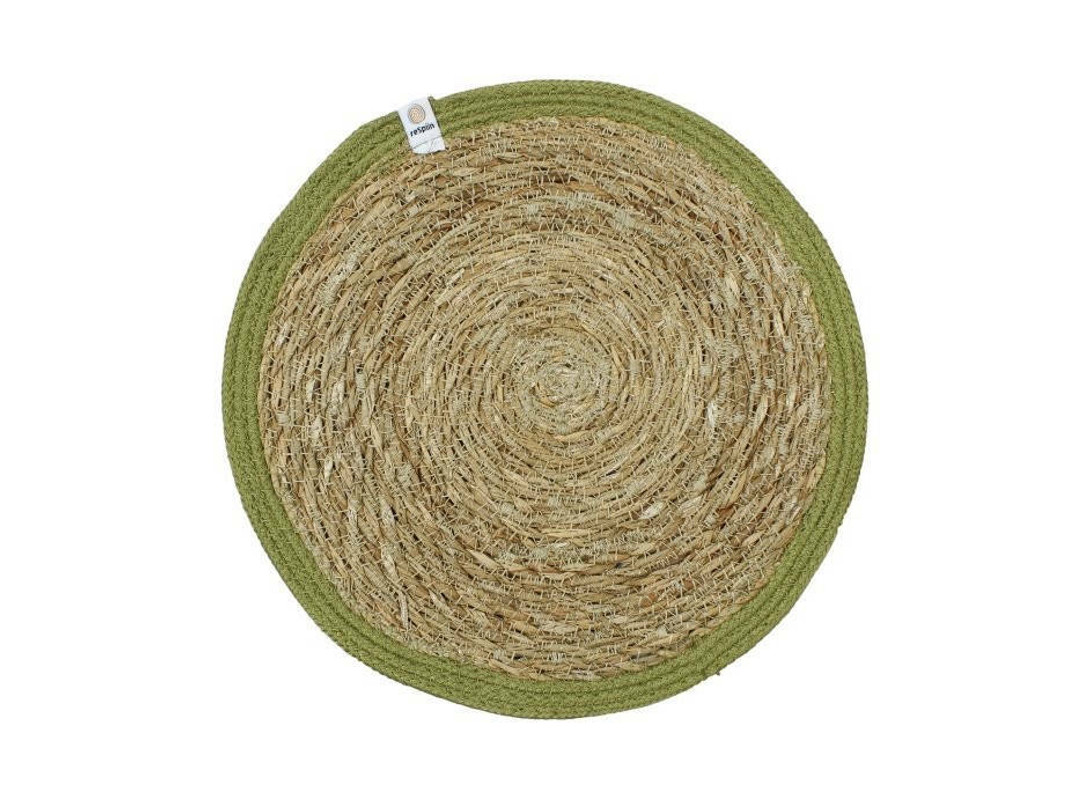 Seagrass and Jute placemat - Green