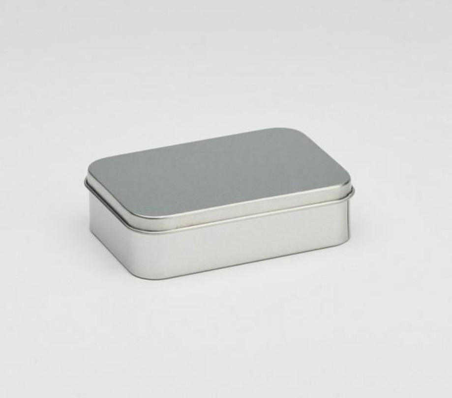 Soap sized rectangular storage tin