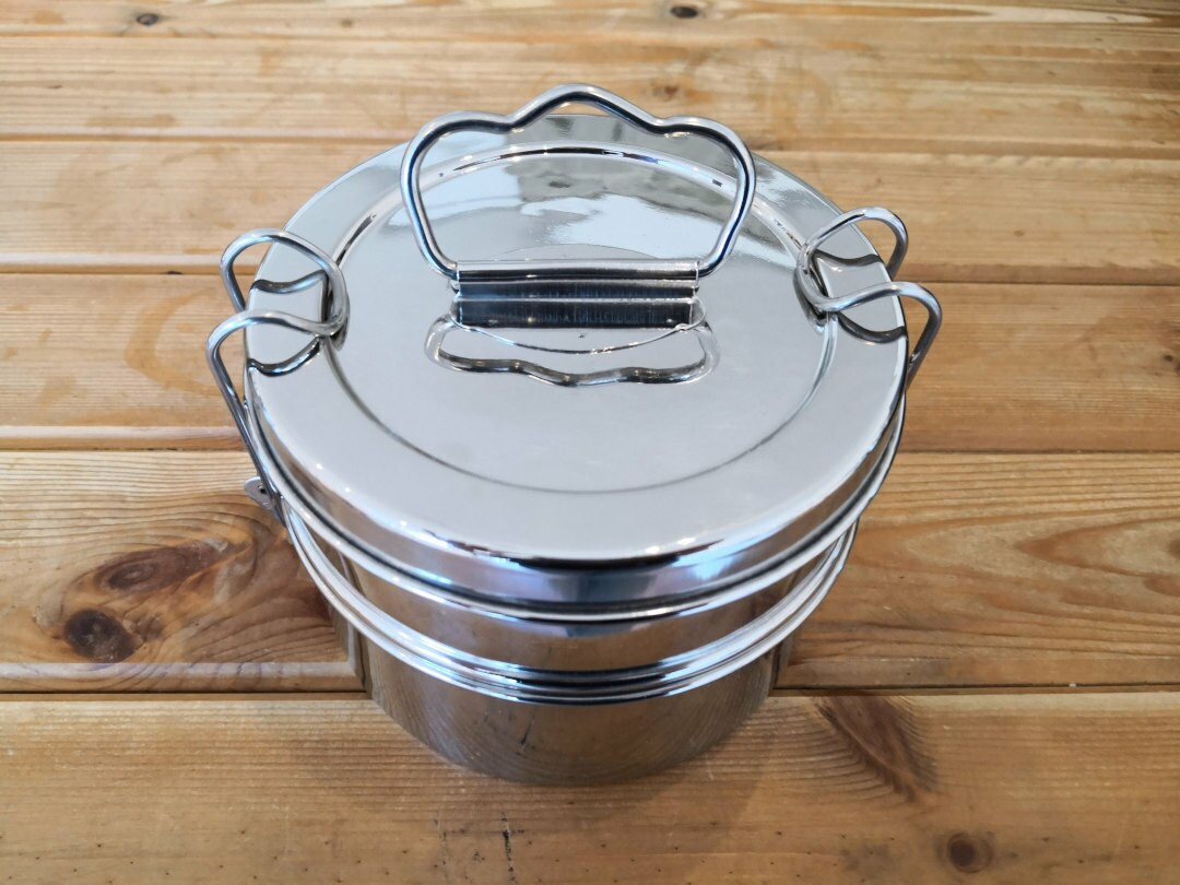 Stainless steel tiffin 2 tier
