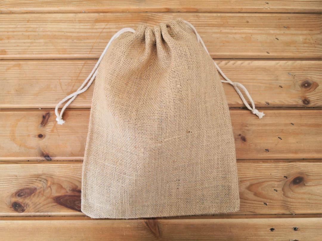 Jute drawstring produce bags