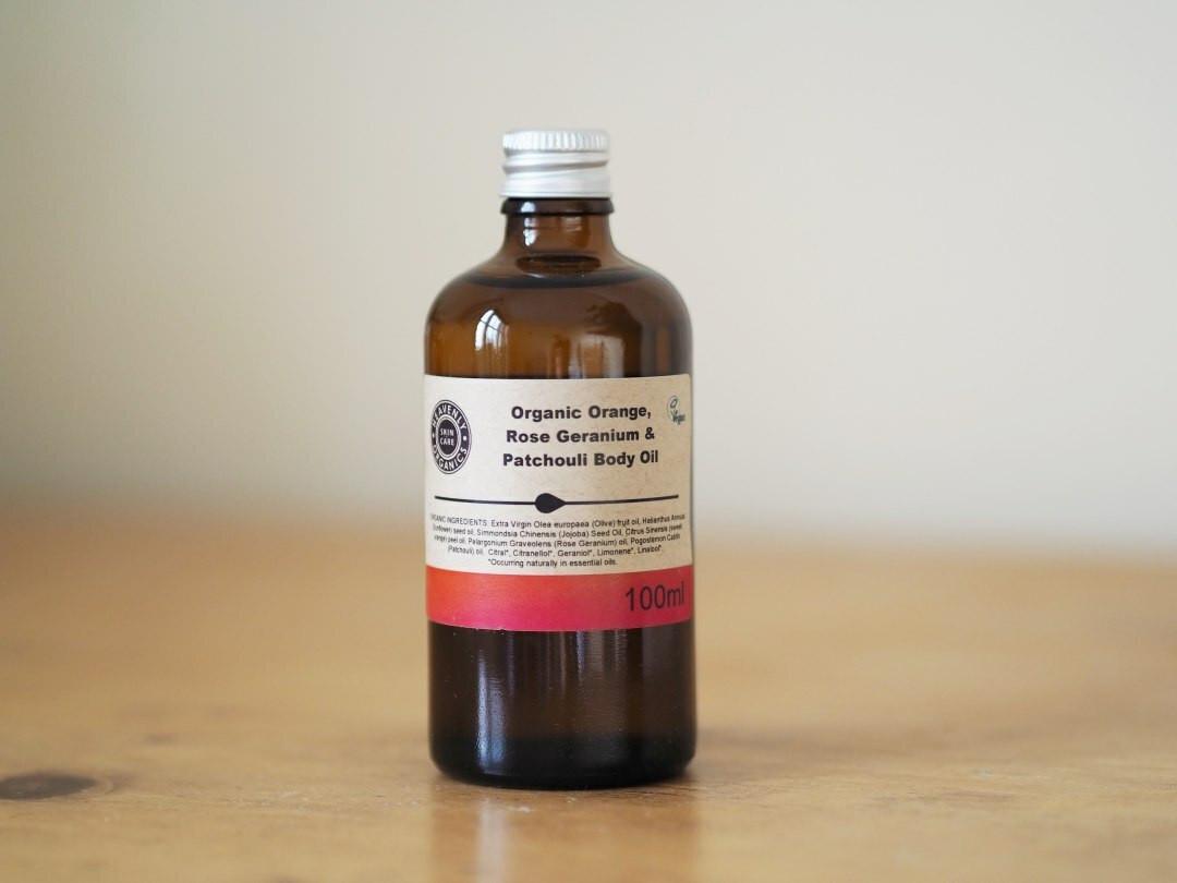 Organic Orange, Rose Geranium & Patchouli Body Oil