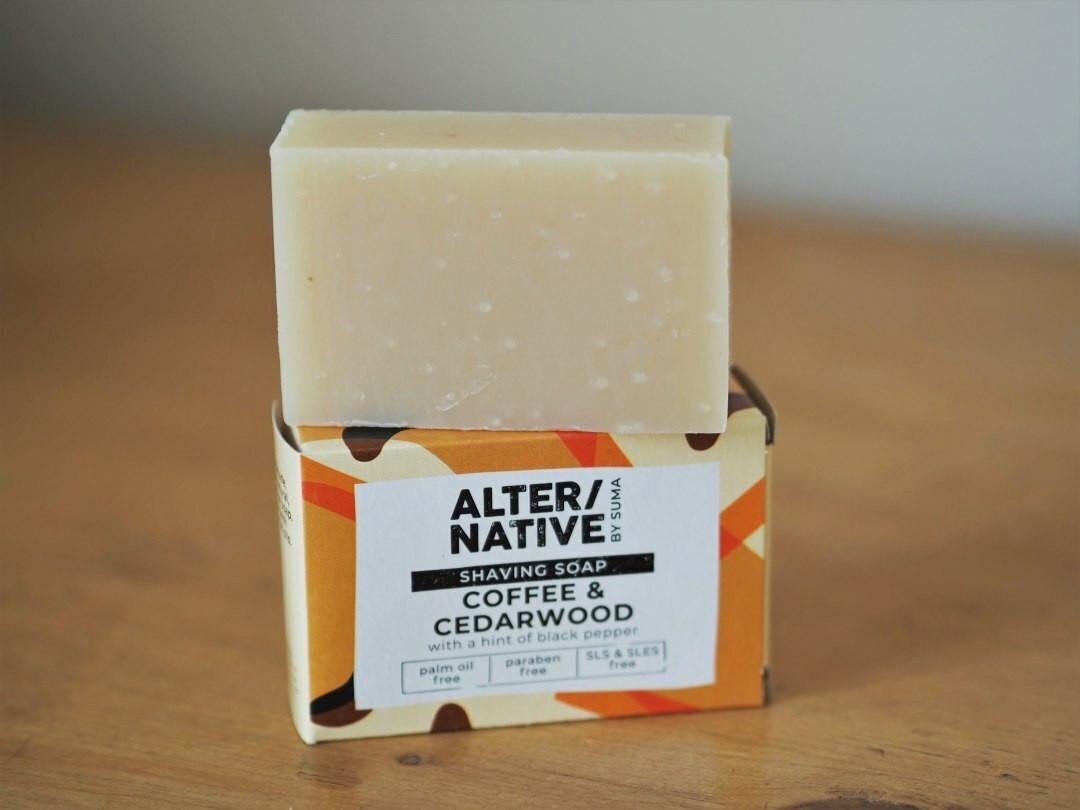 Alternative Shaving soap Coffee & Cedarwood 95g