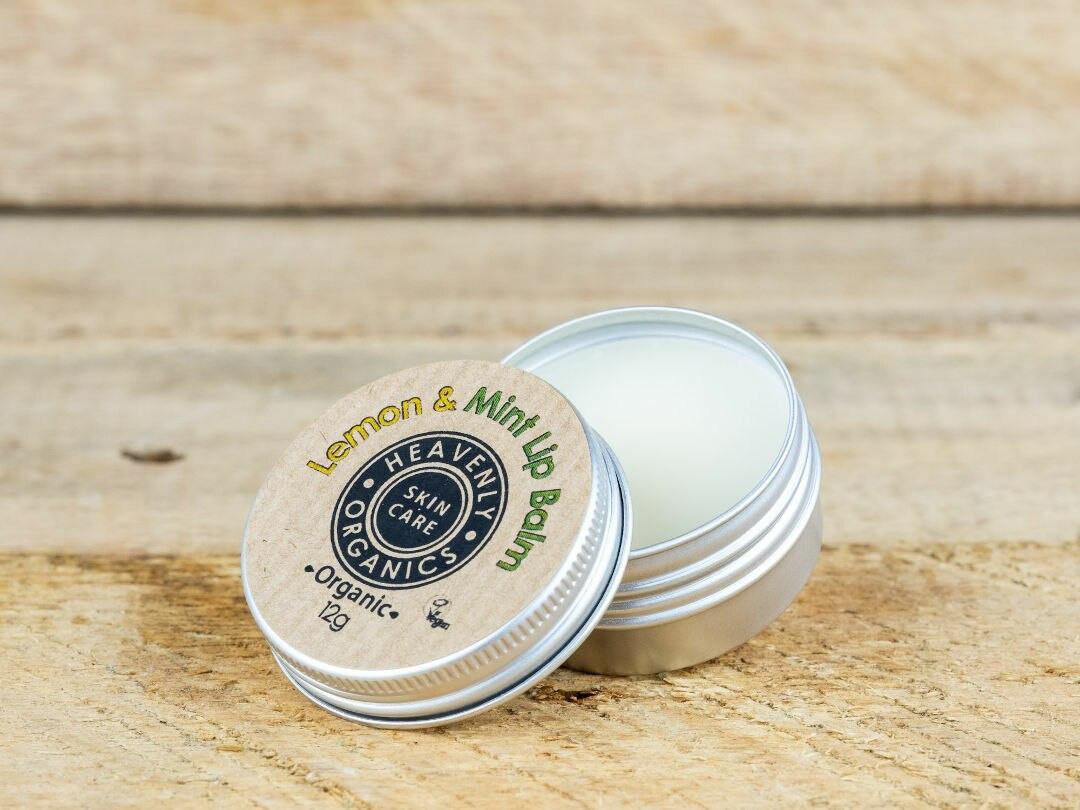 Organic Lemon and Mint lip balm