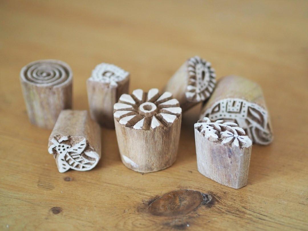Fair trade Wooden printing stamp block