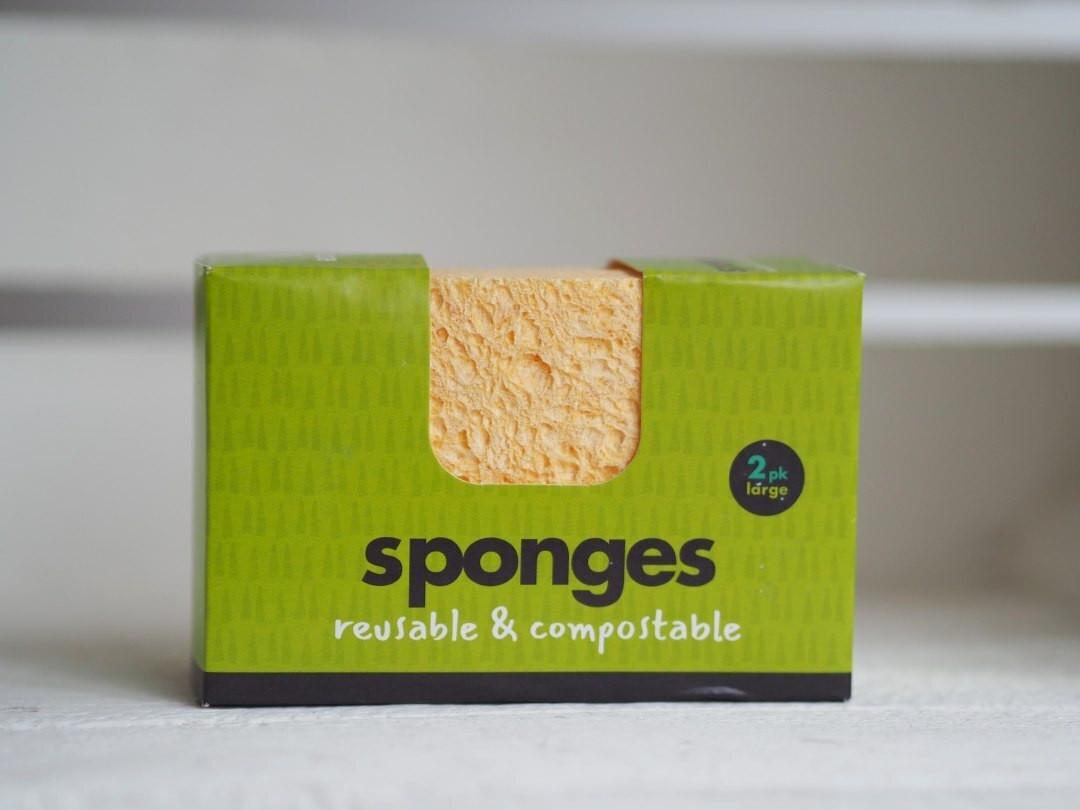 Compostable Wood Pulp & Cotton Sponge
