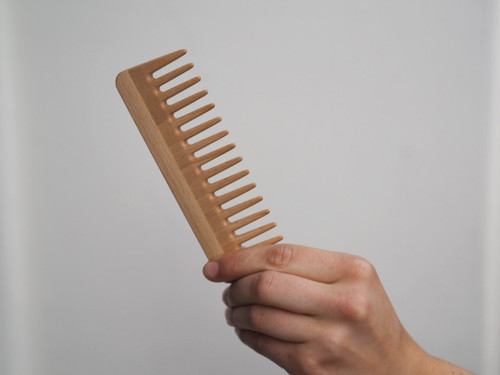 Wooden Styling Wider Hair Comb