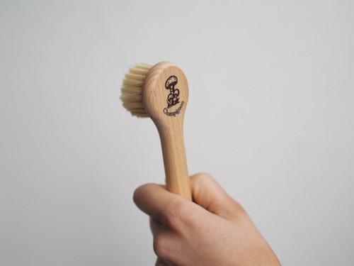 Mushroom cleaning brush