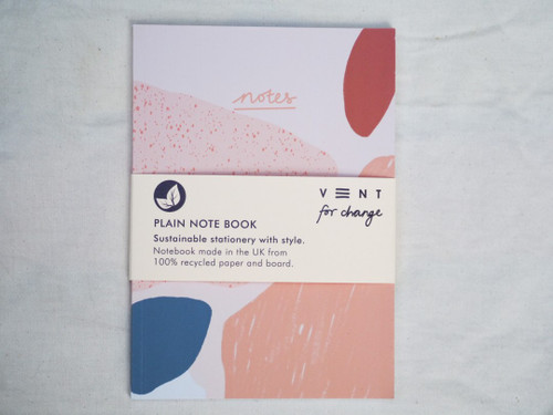 Notes A5 Notebook Plain Recycled Paper