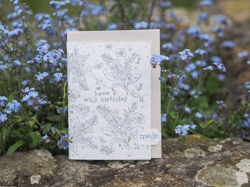 Wild Birthday plantable seed greeting card