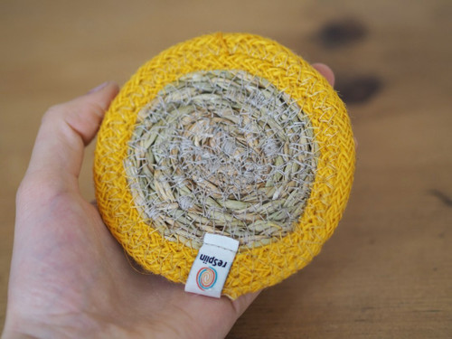 Seagrass and Jute Coaster with Colour Band