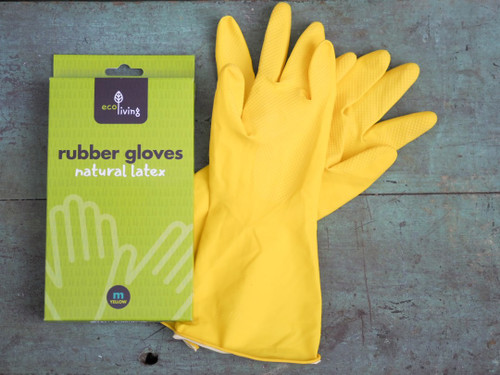 Ecoliving natural rubber latex gloves