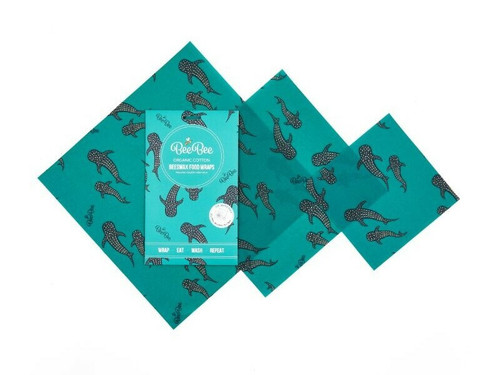 Beeswax food wraps Mixed 3 pack - Whale Pod