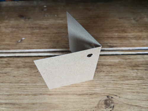 Recycled folded gift tag