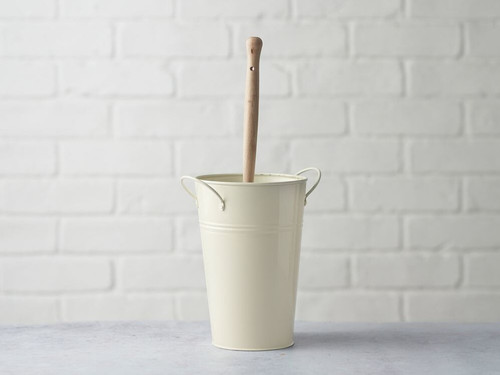 Plastic Free Toilet Brush Holder - Cream