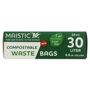 Maistic 30L compostable waste bags x 10