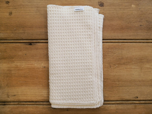 Cotton waffle cloth for cleaning