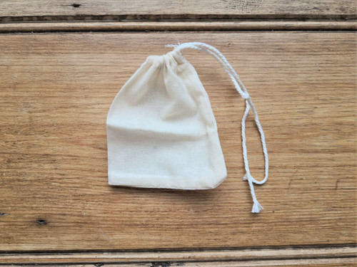Unbleached small cotton pouch