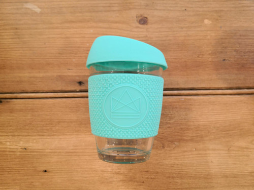 Reusable glass coffee cup 340ml- Mint